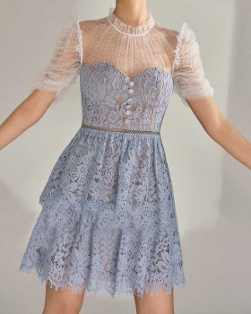 Fine gauze lace France style cake translucent dress