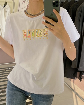 Large yard short sleeve summer letters T-shirt