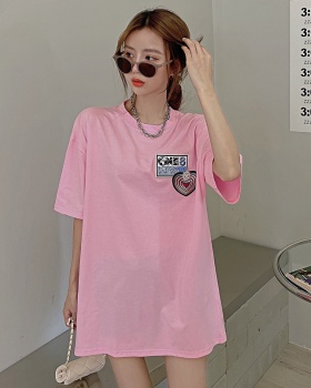 Loose large yard T-shirt summer tops for women