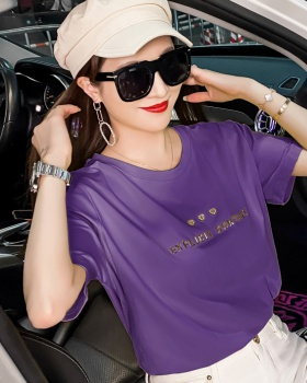 Fashion slim T-shirt summer letters tops for women