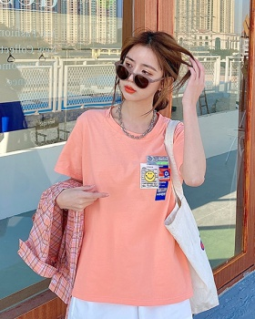 Short sleeve large yard long T-shirt for women