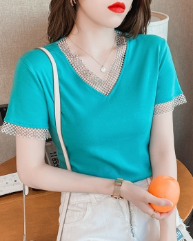 Short T-shirt summer bottoming shirt for women