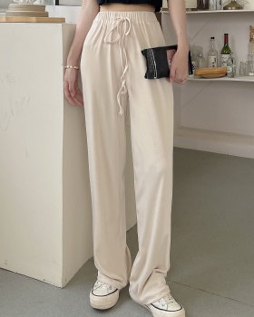 Loose all-match wide leg pants straight casual pants for women