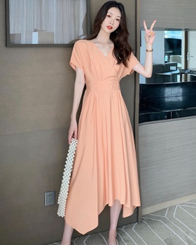 Slim summer dress cross long dress for women