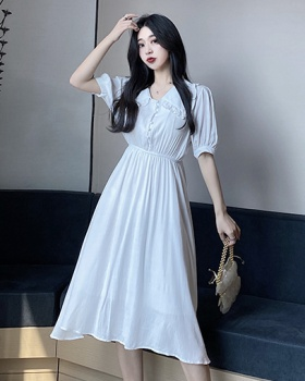 Refreshing retro slim summer vacation dress for women