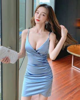 Summer V-neck sexy tight nightclub strap dress