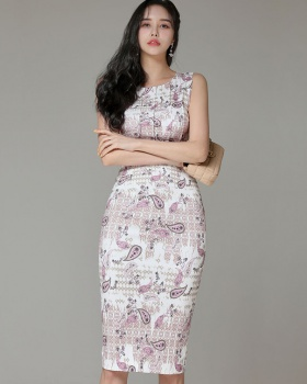 Slim ladies temperament Korean style dress for women