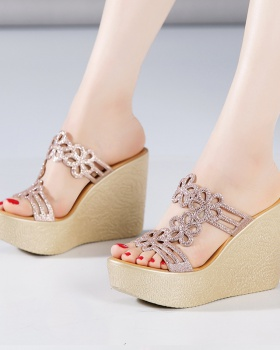 High-heeled all-match platform trifle slippers for women