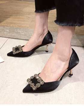 Lady autumn shoes pointed high-heeled shoes for women