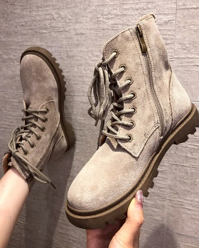 Thick crust British style work clothing nubuck martin boots