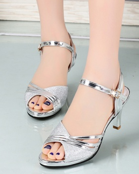 Open toe sexy high-heeled shoes summer sandals for women