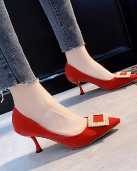Sexy temperament shoes red high-heeled shoes for women