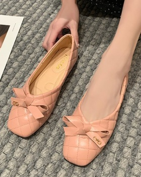 Candy colors bow spring lazy shoes low Korean style shoes