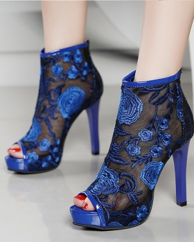 Chinese style summer sandals embroidered summer boots