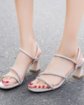 Casual sandals fashionable high-heeled shoes for women