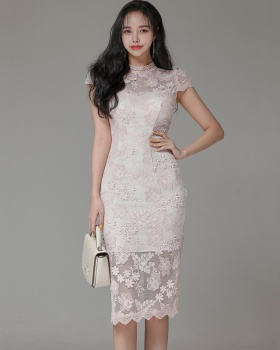 Package hip stereoscopic slim long temperament dress