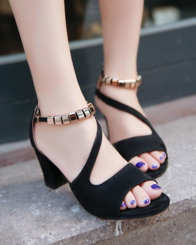 Open toe summer cingulate thick fashion sandals for women