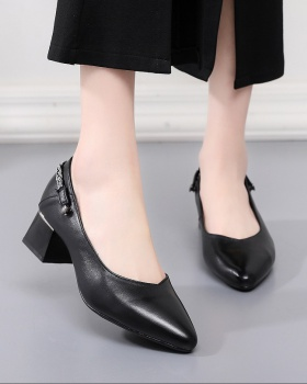 First layer cowhide thick fashion shoes for women