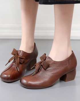 Thick first layer cowhide Casual shoes for women