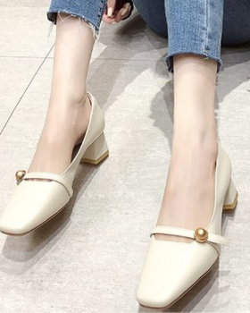Korean style thick high-heeled shoes tender lady shoes