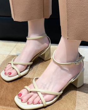 Fashion and elegant thick sandals summer lady  for women