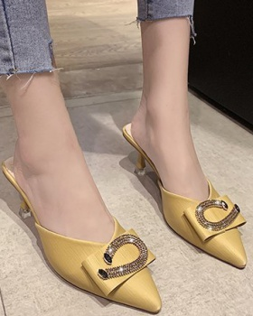 Korean style spring pointed temperament shoes for women