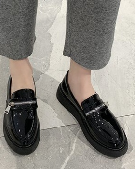 Thick Casual loafers British style leather shoes