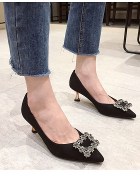 Maiden spring high-heeled shoes rhinestone shoes for women