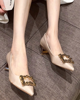 Fine-root all-match shoes France style high-heeled shoes