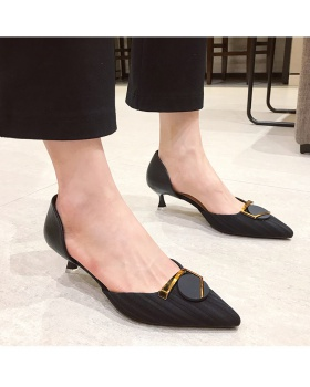 Profession pointed high-heeled shoes fine-root spring shoes