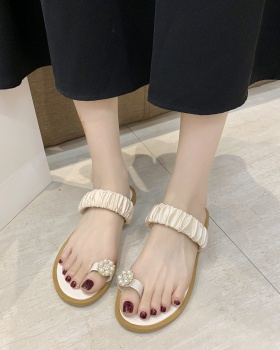 Colors flat tender  lady sandy beach slippers for women