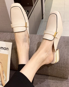 Square head fashion shoes student lazy shoes