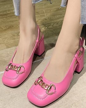 Middle-heel sandals high-heeled shoes for women