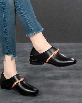 Autumn buff Korean style thick shoes for women