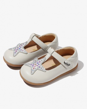 Child baby small shoes spring soft soles girl leather shoes