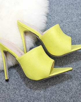 European style slippers high-heeled shoes for women
