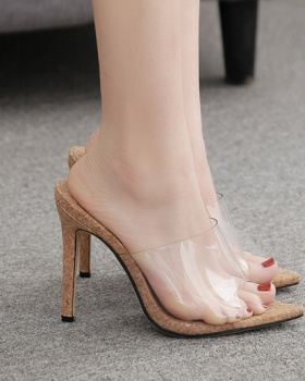 Fish mouth high-heeled shoes summer sandals for women