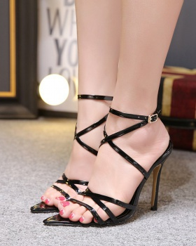 Fine-root high-heeled shoes cross sandals for women
