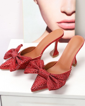 Bow high-heeled shoes fashion sandals for women