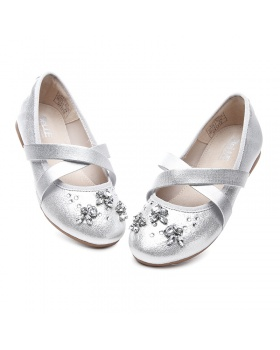 Girl rhinestone children shoes fashion leather shoes