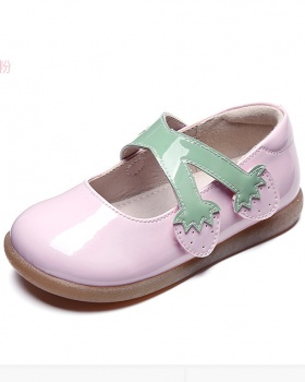 Spring and autumn pure shoes crystal fashion leather shoes
