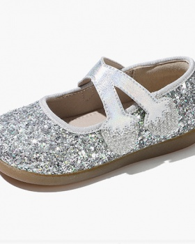 Crystal children shoes spring and autumn leather shoes
