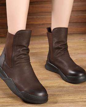 Round martin boots Casual short boots for women