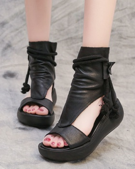 Summer sandals fish mouth summer boots for women