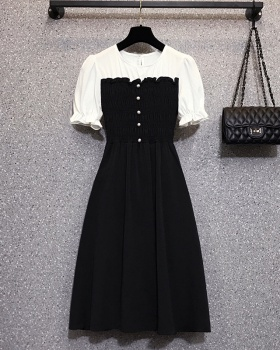 France style summer Western style fat large yard dress