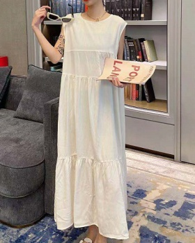 Fold Japanese style dress frenum exceed knee long dress