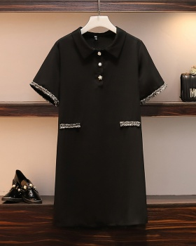 France style slim fat large yard summer dress for women