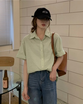 Short sleeve spring and summer shirt Korean style tops