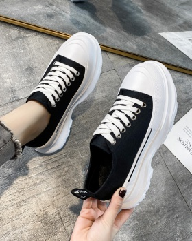 Sports shoes thick crust canvas shoes for women