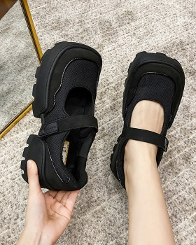 Retro summer shoes Japanese style platform shoes for women